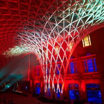 Picture from the offical launch of the new Kings Cross station in London on 14th March 2012