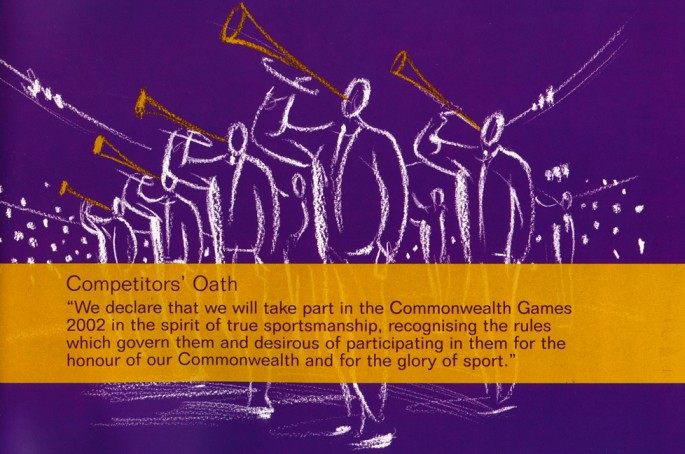 Picture of Commonwealth Games Opening Ceremony Programme